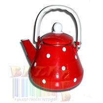 Pava 1,5 Litros Enlozada Retro Color Rojo Diseño