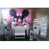 Aluguel Decoração Festa Infantil Minnie Rosa