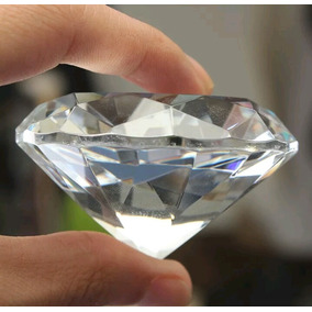 Pisapapales Cristal Claro Fascetado 40mm Diámetro Decora
