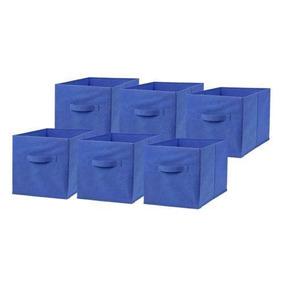Blue - 6 Pc Inicio Caja Hogar Organizador Tela Cubo Cub-5643
