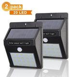 2 Lamparas Con 20 Led - Sensor De Movimiento - Impermeable