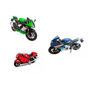 Miniaturas 3 Motos Suzuki Hayabusa-srad-750-kawasaki-zx-10r