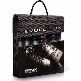 Kit 5 Escovas De Cabelo Termix Evolution Plus 02-03-04-05-06