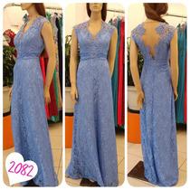 [seuvestido] Vestido Longo Verde Agua Tiffany Rose Azul 2082