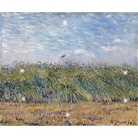 Lienzo Tela Campo De Trigo Y Perdiz Vincent Van Gogh 90x110