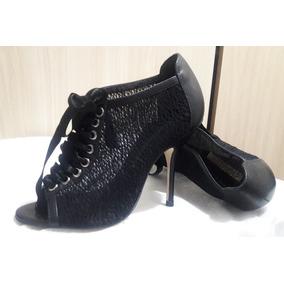 Sapato Feminino Ankle Boots Preto Importado Numero 34