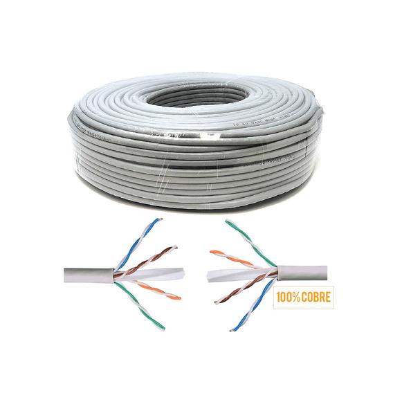 Cable Armado Internet 100m Ethernet Cctv Cat 6 Rj45 Cobre