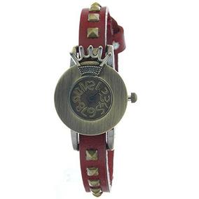 Copper Royal Crown Quartz Watch 2013 New Vintage Red Straps