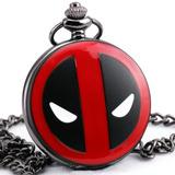 Relógio De Bolso Deadpool Com Caixa Preta Relógio De Bolso