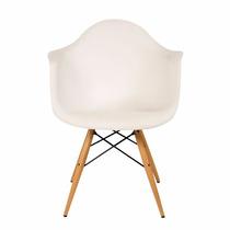Silla De Comedor Plastico Patas De Madera Diseño Eames Promo