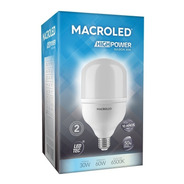 Macroled High Power Bulbón 30w Blanco Frío 6500k E27