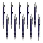 Paquete De 10 Bolígrafo De Aluminio Con Clip Metálico