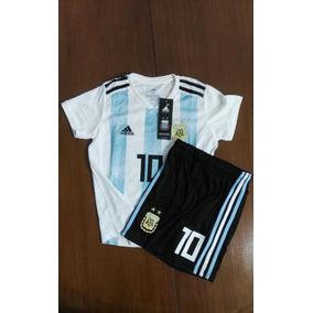 Kit Niños Messi Argentina 2018 100% Original