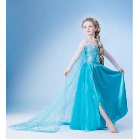 Vestido Frozen Princesa Elsa De Niña