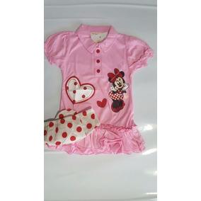 Conjunto Infantil Vestido Minnie + Calcinha Poá