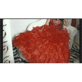 Vestido Rojo 15 Años Y Zapatos Importado