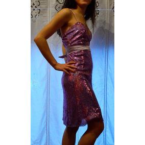 Vestido De Fiesta Y 15 En V Y Lentejuelas (ver Envío Gratis)