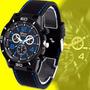 Reloj Pulsera Geneva Hombre Malla Silicona Precio De Regalo
