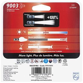 Philips 9003 Lámpara Delantera Premium X-treme Vision, Paque