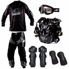 Kit Equipamento Motocross Trilha Insane 6 Itens Roupa Cross