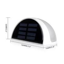 Luminária Led Solar 6 Leds Jardim Bateria Inclusa