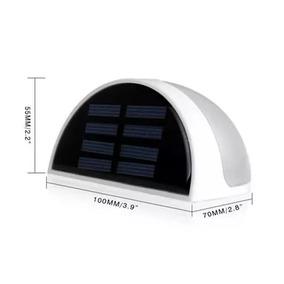Luminária Luz Led Solar 6 Leds Jardim Bateria Recarregavel
