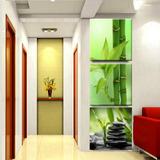 Quadro 120x40cm Decorativo Bambu Pedra Zen Casa Spa Clinicas