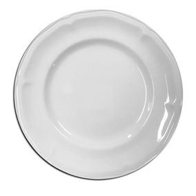 Prato Raso Melamina Branca Especial Premium Buffet - 12 Un