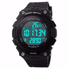 Reloj Deportivo Unisex Militar, Podometro,luz-importafacil