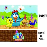 Frente De Mesa + Painel Galinha Pintadinha 2,00x1,50. 48hs