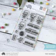 Sellos Mama Elephant Scrapbook Manualidades Super Heroes