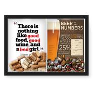 Quadro 33x43 Tampinha/rolha (2em1)bab Girl E Beer Numbers