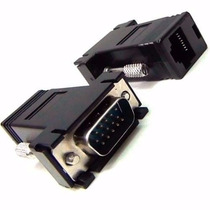 Kit C/ 10 Adaptador Extensor Vga Video Via Cabo Rede Rj45