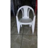 Cadeira Poltrona Plástica Com Braço Para Piscina / Jardim