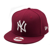Boné New Era Snapback New York Yankees Bordô - Mlb