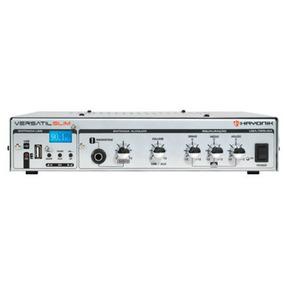 Amplificador Versátil Slim 50w 12v Fm Prata 44491 Hayonik