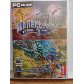 Game Pc Roller Coaster Tycoon 3 Deluxe Edition Novo Fte Grát