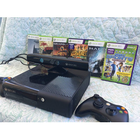 Xbox 360, 250gb, 2 Controles S Fio + Kinect E 6 Jogos.