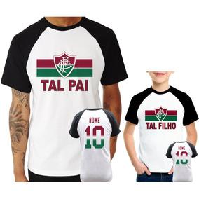 7bab7b9899 Camisa Raglan + Infantil Fluminense Tal Pai Tal Filho
