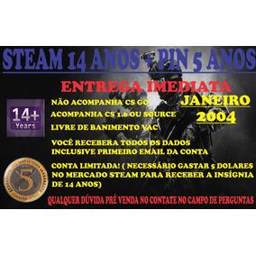 Steam Com 14 Anos + Medalha De 5 Anos Janeiro 2004