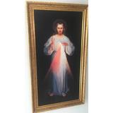 Lienzo Señor De La Divina Misericordia (80 X 40) Cms