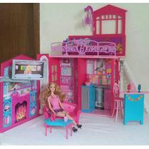 Casa De Praia Da Barbie Vira Maleta (seminovo)