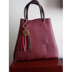 Bolsa Artesanal 100%mexicana Broches Mk Forrada Diseño Excl