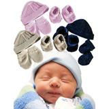 Juegos De Gorros Piel De Durazno Para Bebes Recién Nacidos
