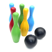 Juego De Bowling O Bolos 6 Pinos Plasticos Con 2 Pelotas