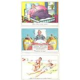 Lote X3 Tarjeta Postal Serie Comica Dec 50 Cromocart Humor