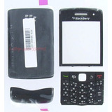 Carcasa Blackberry 9100 5 Piezas + Forro+anti -espia Nuevo