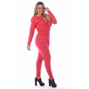 Conjunto De Moleton Calça Sequinha E Blusa Decote De Ilhós