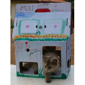 Casa De Papelão Para Seu Gato - Muli Pet