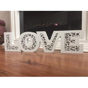 Letrero Love Luminoso Y Grabado